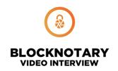 BlockNotary Video Interview Logo