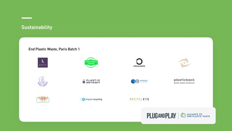 End Plastic Waste Paris Batch 1 Startups