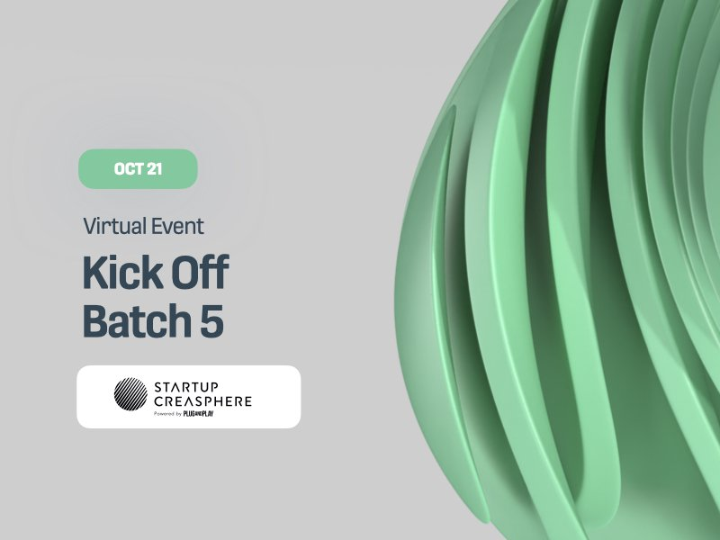 Startup Creasphere Batch 5 Kick Off