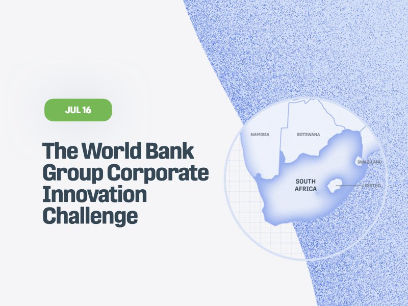 The World Bank Group Corporate Innovation Challenge