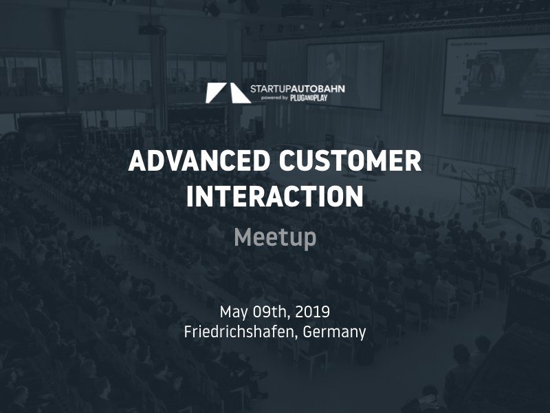 "Meetup ""Advanced Customer Interaction"" – STARTUP AUTOBAHN"