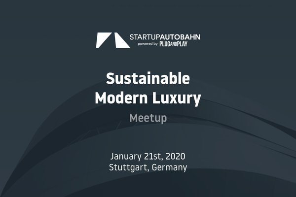 Meetup Modern Sustainable Luxury