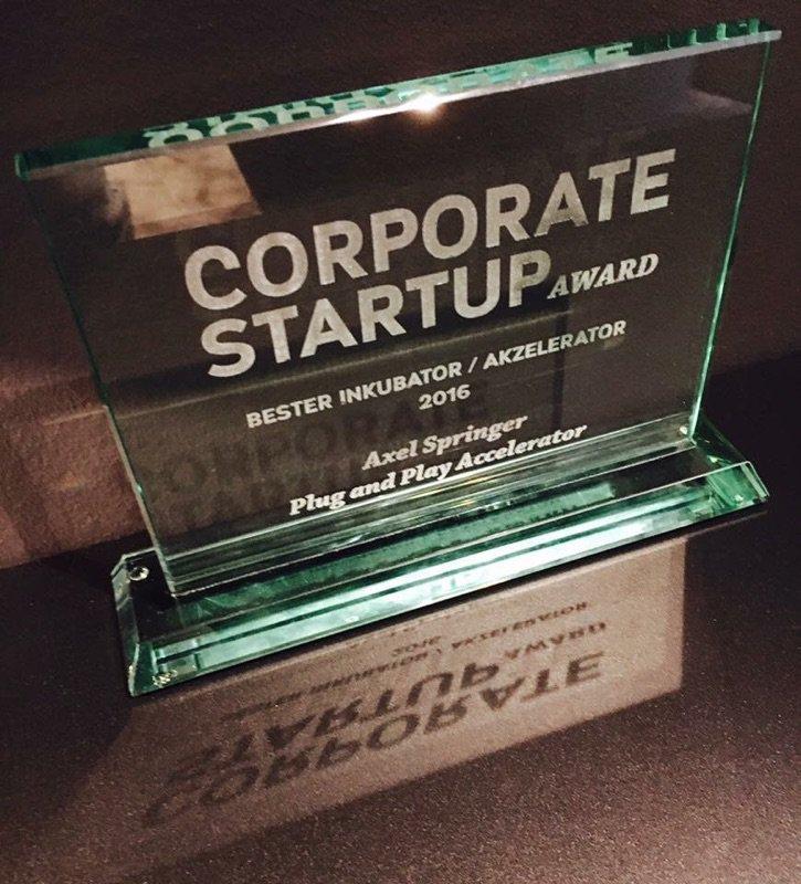 corporate startup award