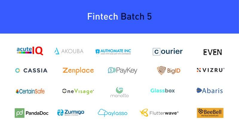 Fintech Batch 5 Startups