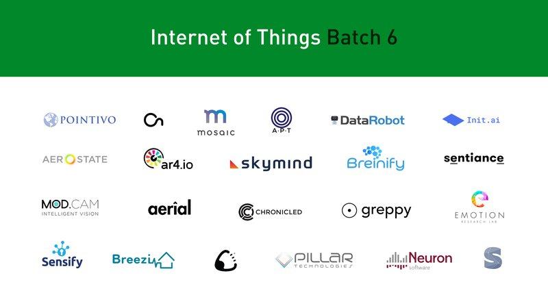 IoT Batch 6 Startups