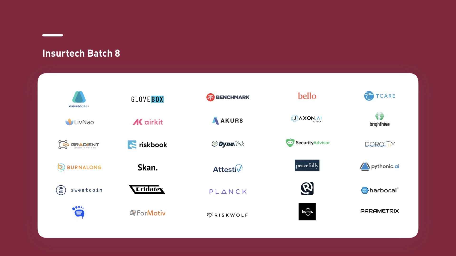 Plug and Play Insurtech startups