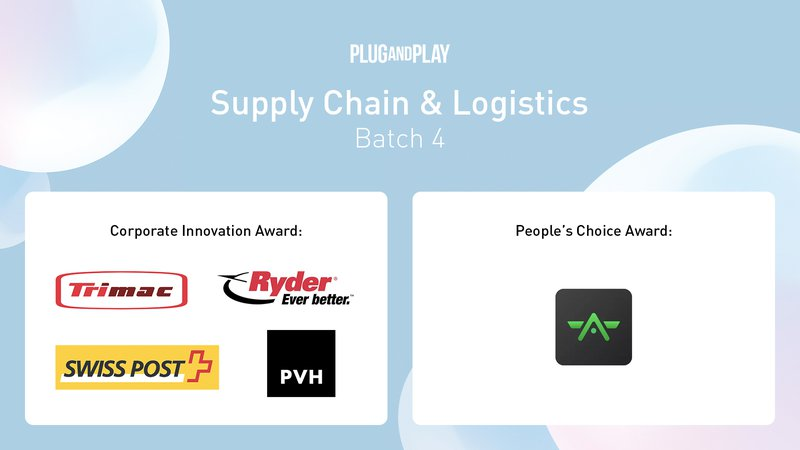 Plug and Play Spring Summit 2019 Winners - Supply Chain