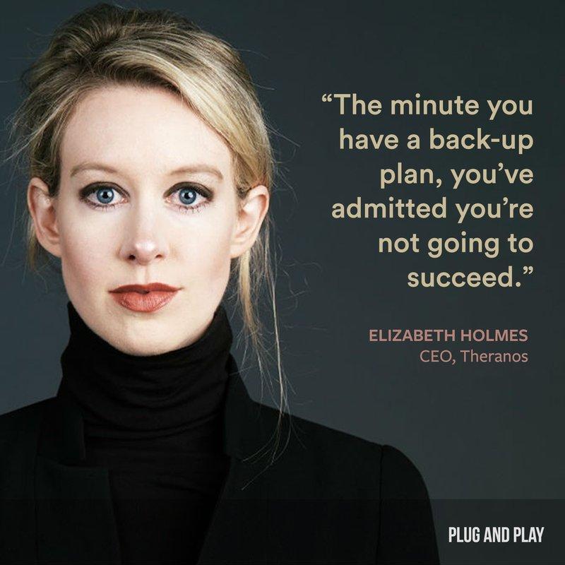Elizabeth Holmes Plug and Play female entrepreneur