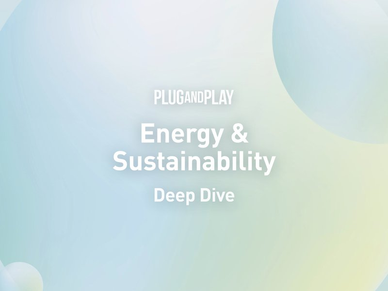 Energy and Sustainability Deep Dive, Berlin - May