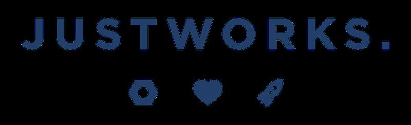 justwork logo navy