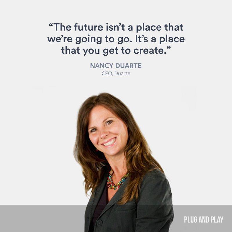 Nancy Duarte Plug and Play female entrepreneur