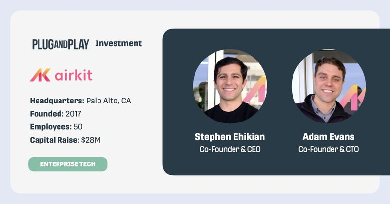 Plug and Play Investment Airkit Startup Profile